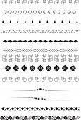set geometric text dividers, or brush, frame element poster