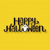 Happy Halloween Typography banner poster