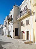 Houses on the ancient boundery wall in oldtown of Bari. Apulia. poster