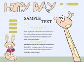 Cartoon website template with animals.  Fully editable  vector illustration. poster