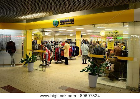 Vilnius City Seskine District Humana Shop On October 17, 2014