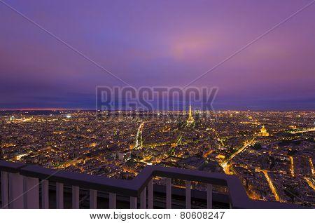 view of Paris city, France
