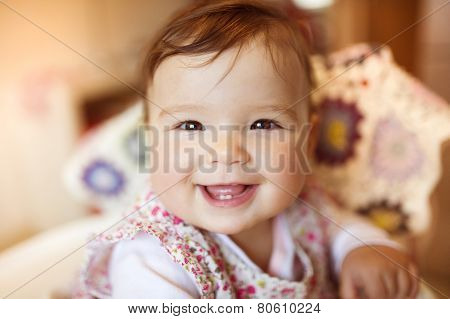 Happy smiling baby