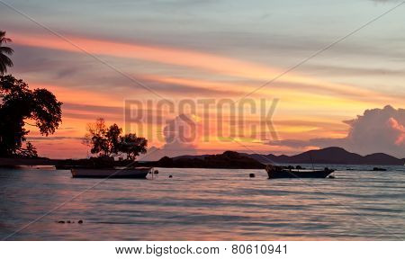 Pattaya, Thailand, Wongamat Beach On Sunset (koh Larn View)