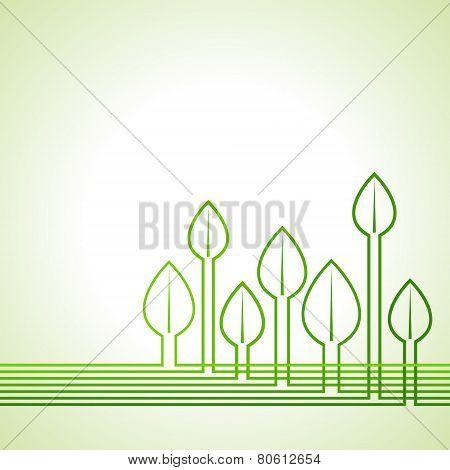 Ecology concept - Leaf background stock vector