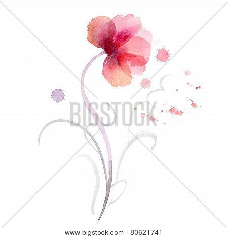 Watercolor flowers background