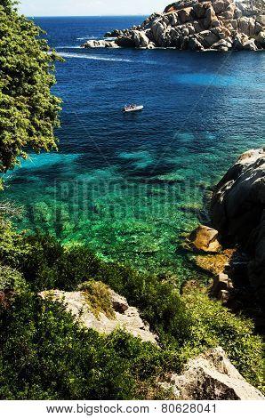 The Bay Of Cala Spinosa In Sardinia