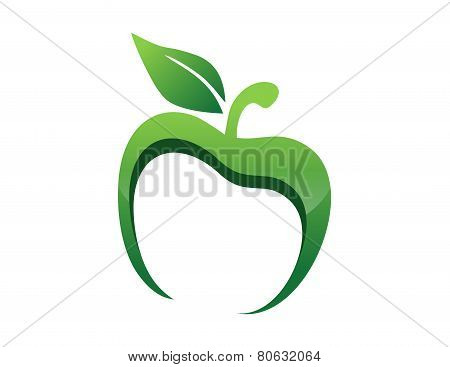 apple logo app nutrition health nature icon symbol fresh