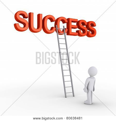 Person About To Reach Success