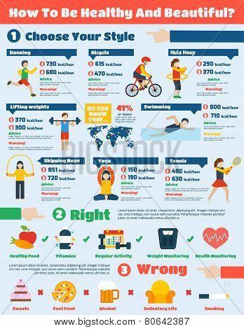 Fitness Infographics Set