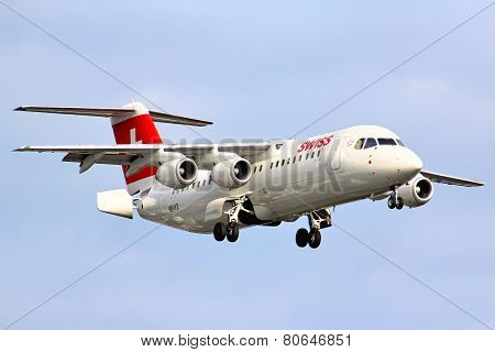Swiss International Air Lines Bae Systems Avro 146-rj100