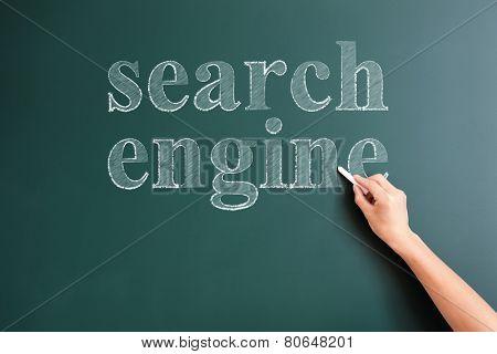 serch engine written on blackboard