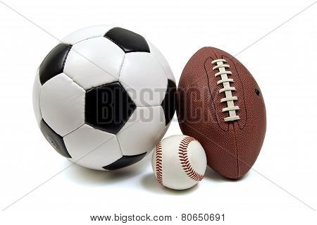 Baseball Football And Soccer Ball
