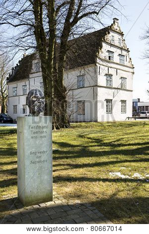 Statue Founder Of Sociology In Husum, Germany