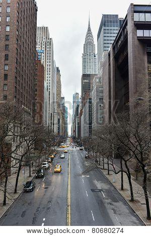 View Along 42Nd Street, Manhattan