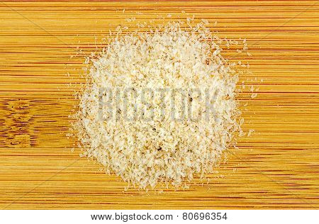 Pile Of Psyllium On Wooden Background