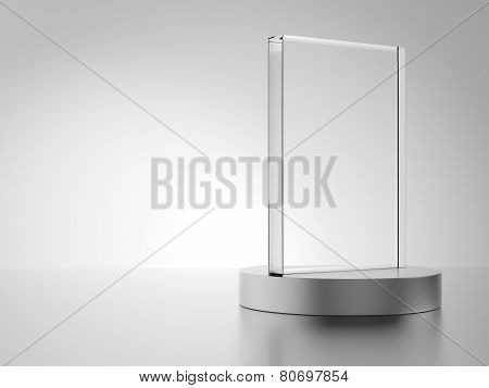 Glass Award With Metal Base