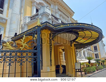 Hanoi Opera House Side Entrance Detail, Vietnam