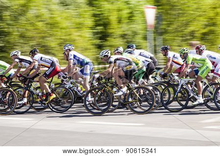 Eschborn, Germany - May 1: More Than 4500 Biker Took Place At The 51St Bicycle Race Rund Um Den Fina