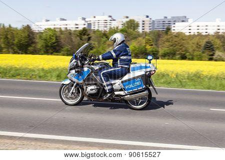 The Police Protects The 51St Bicycle Race Rund Um Den Finanzplatz Eschborn-frankfurt