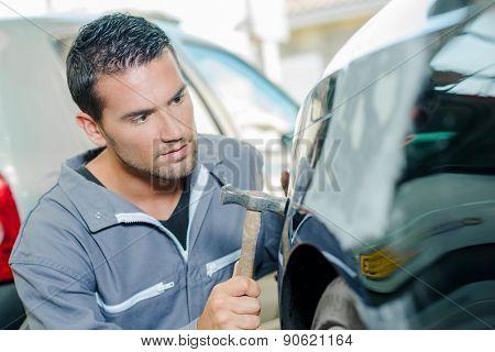 Car body-shop worker