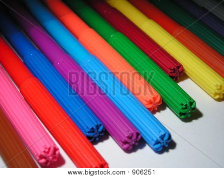 Colored Soft-Tip Pens