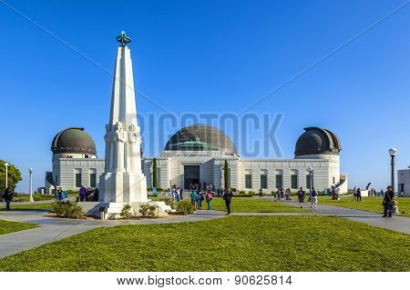 People Visit The Griffith Observatory