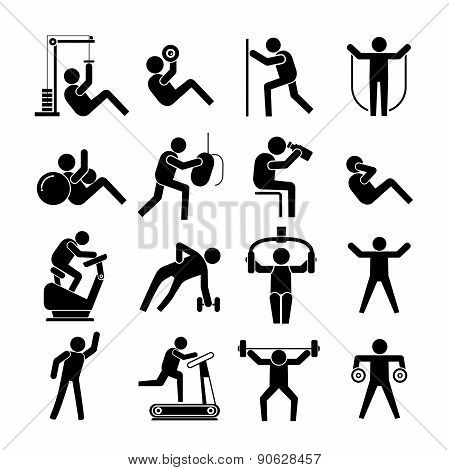 work out, fitness icons