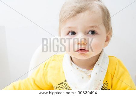 Cute baby eating