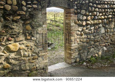 Entrance Door To Vineyard
