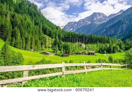 Alpine landscape in Zillertal Alps, Austria