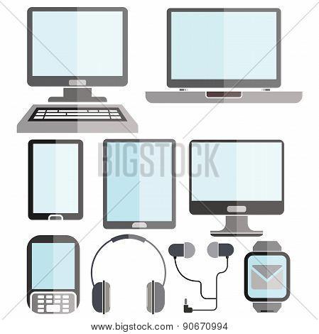 smart phone, computer