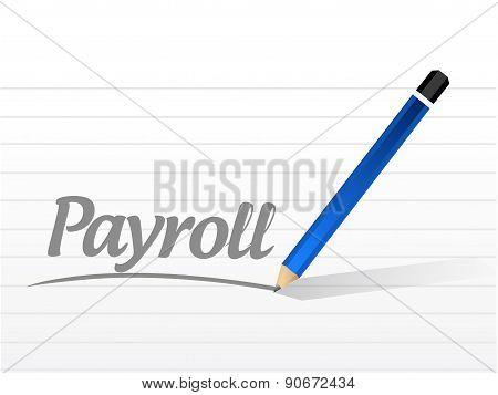 Payroll Message Sign Concept Illustration