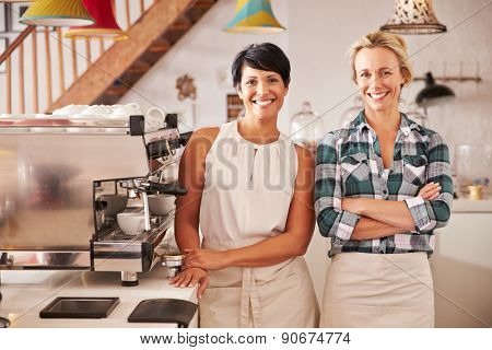 Cafe owners, portrait