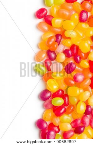 jelly beans on white background poster