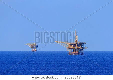 Two Offshore Production Platforms For Oil And Gas Production