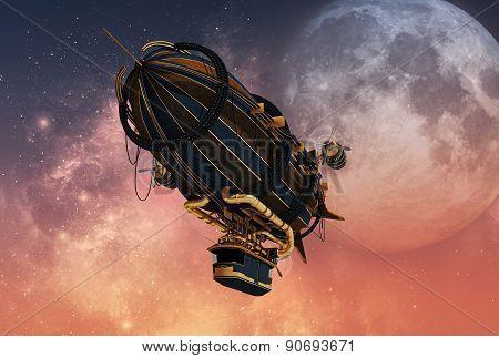Steampunk Airship, 3D Cg