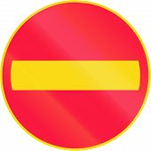 Road sign 331 in Finland - No entry poster