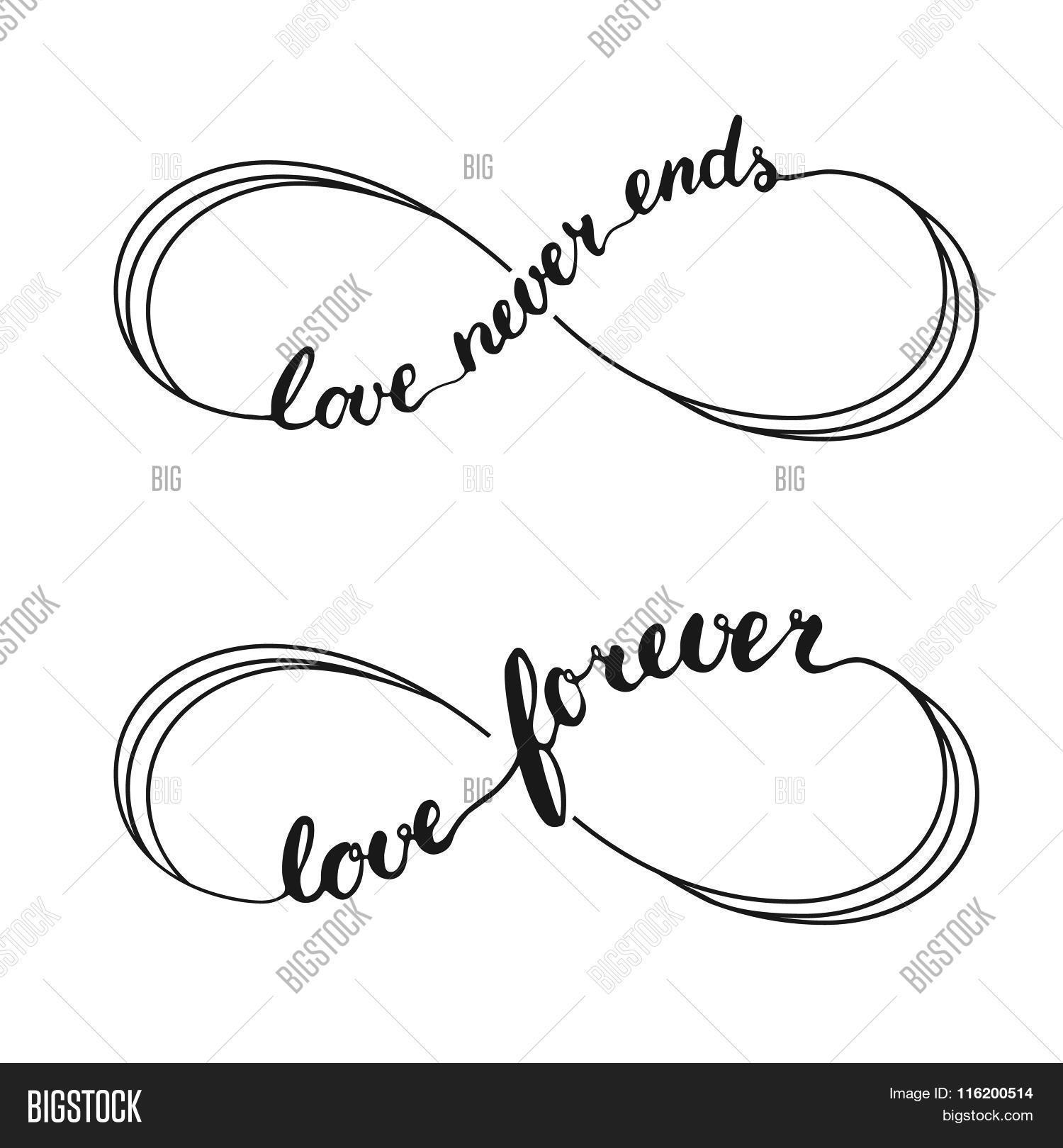 Infinity Love Symbol Vector Photo Free Trial Bigstock