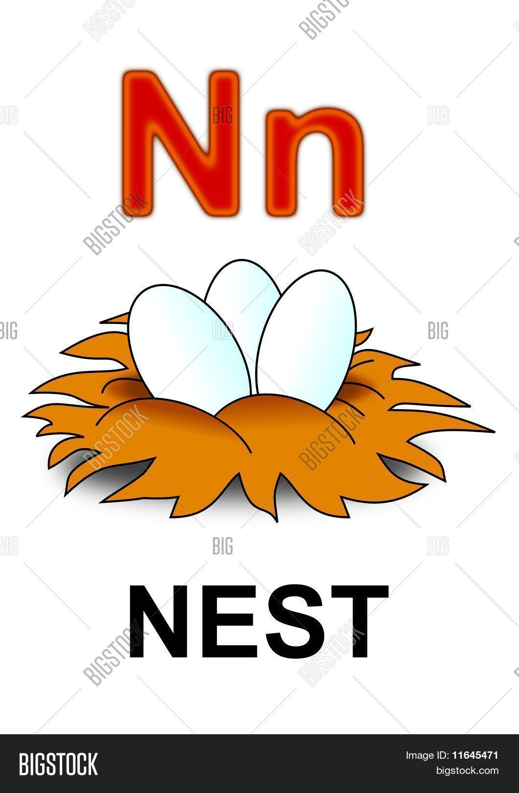 letter n nest vector photo free trial bigstock. Black Bedroom Furniture Sets. Home Design Ideas