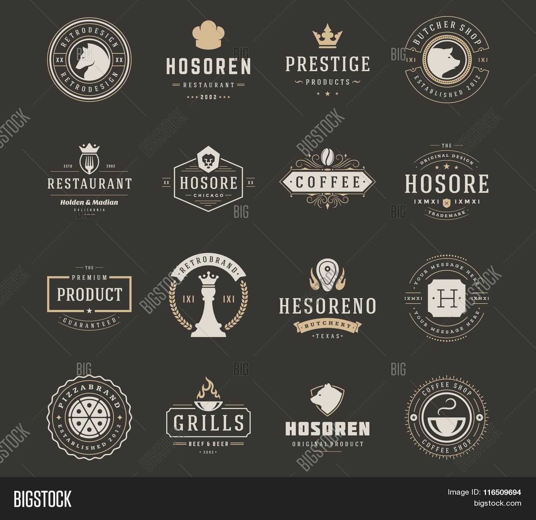 Vintage Logos Design Vector & Photo (Free Trial) | Bigstock