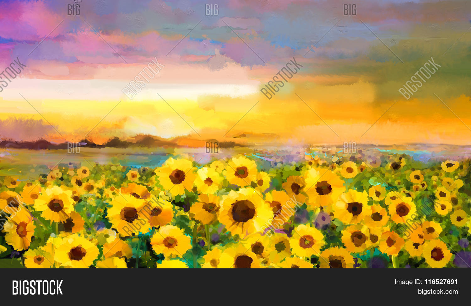Oil Painting Yellow Image Photo Free Trial Bigstock