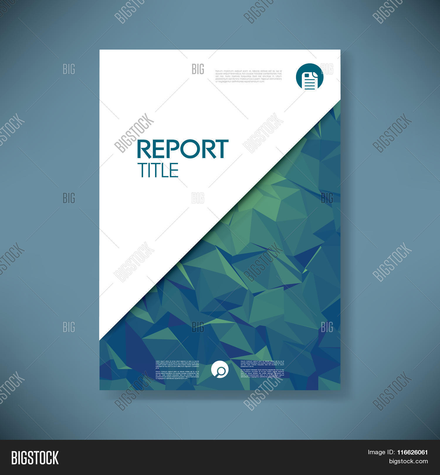 business report cover vector  u0026 photo  free trial