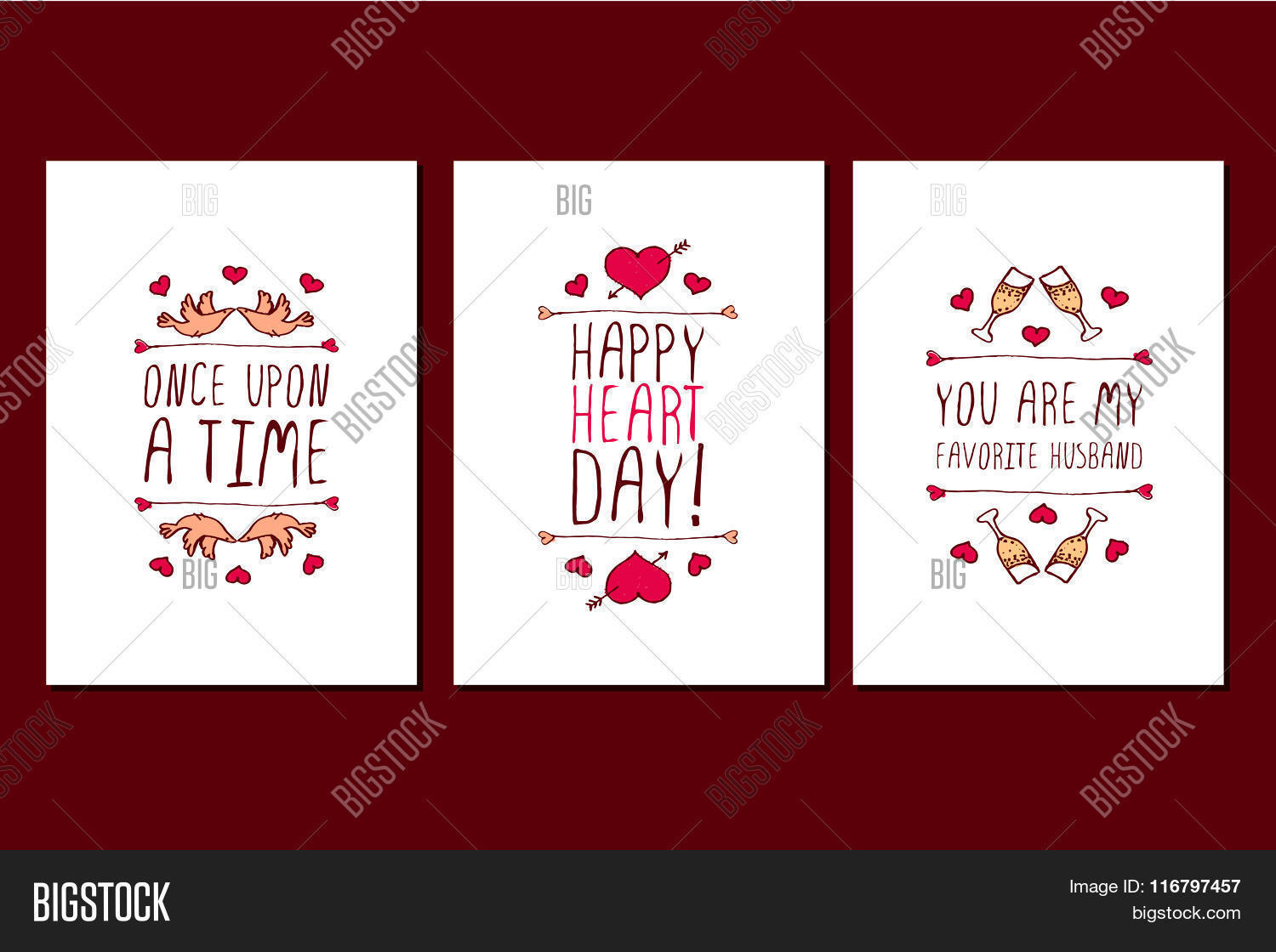 Set Saint Valentines Vector Photo Free Trial Bigstock