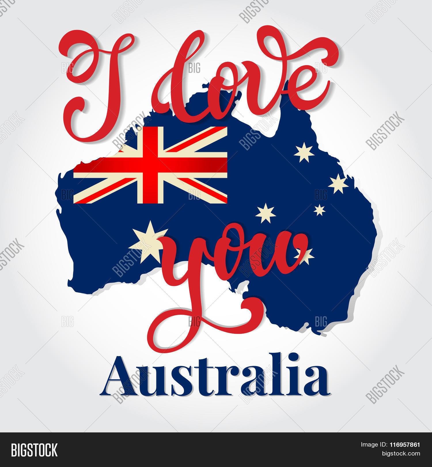 Love You Australia Vector Photo Free Trial Bigstock