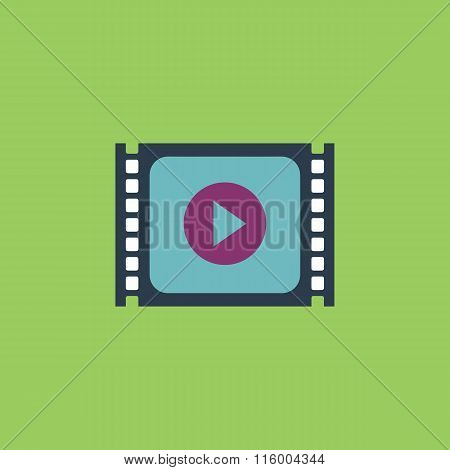 Simple Media player flat icon