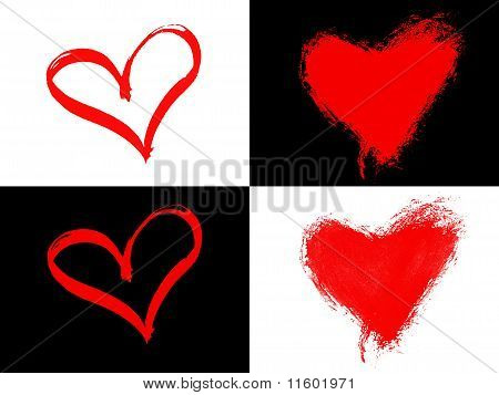Painted Hearts Background