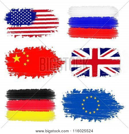 Collection Of International Flags.