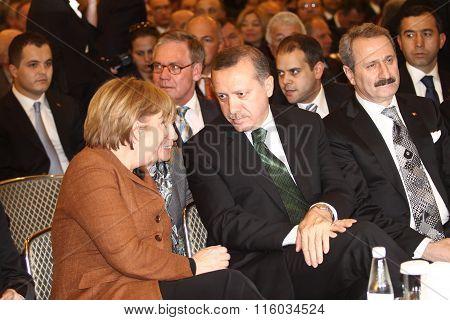 Angela Merkel and Recep Tayyip Erdogan