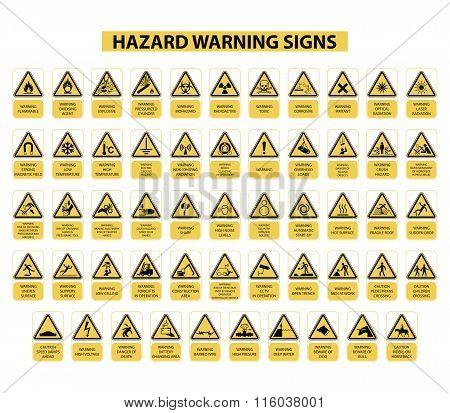 Hazard warning signs